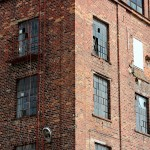 Old factory building windows